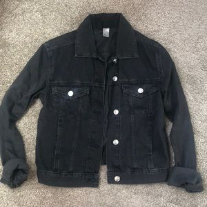 H&M black jean jacket